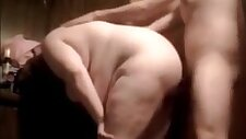 Fat bitch gets her ass fucked raw and creampie in pain