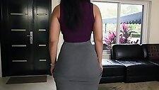 Huge booty fucked