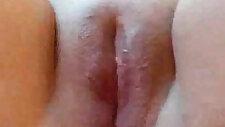 Fat Chubby Ex Girlfriend masturbating her shaved pussy