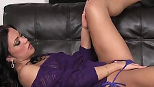 Mandy Strips Out Of Her G String And Fingers Her Pussy And Asshole