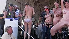 hot girls getting buck fucking naked at the abate of iowa biker rally this year