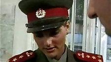 KGB Military Girl sucks and Fucks Recruit ..