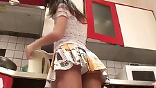 18yo Lara flashing her white panties