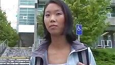 Asian Girl a face Fucked In A Car