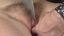 Kinky couple enjoys in BDSM play where