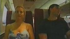 Blonde Groped on Train