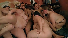 Huge tits group oral and sex in the bbw club
