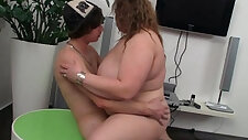 Young dude is seduced by a fatty