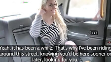Fake Taxi crazy sex for blonde in fishnets anal and facial