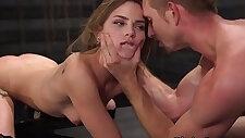 Beautiful slim slave gets rough fuck