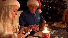 Mr Nobel Santas helper fucks the nasty horny girl get punish them