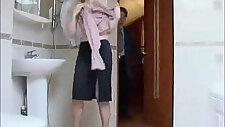 Teeny Russian Suprised In The Bathroom