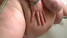 Dude fucks fat lady in the shower cabin