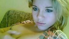 Blonde teen girl webcam