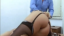 Amazing naked blonde abused in a job interview