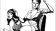 Girl girl catfight tribbing bondage spanking lesbian fetish bdsm wrestling fight art