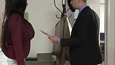 Lovely Girl codi bryant With big fake Tits Banged by big Hard doggy Style In Office movie
