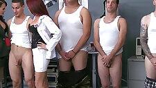 CFNM militar ladies facialized